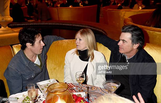 Actor Rob Morrow Paula Wildash and actor Peter Gallagher attend the VEEP season 3 premiere at Paramount Studios on March 24 2014 in Hollywood...