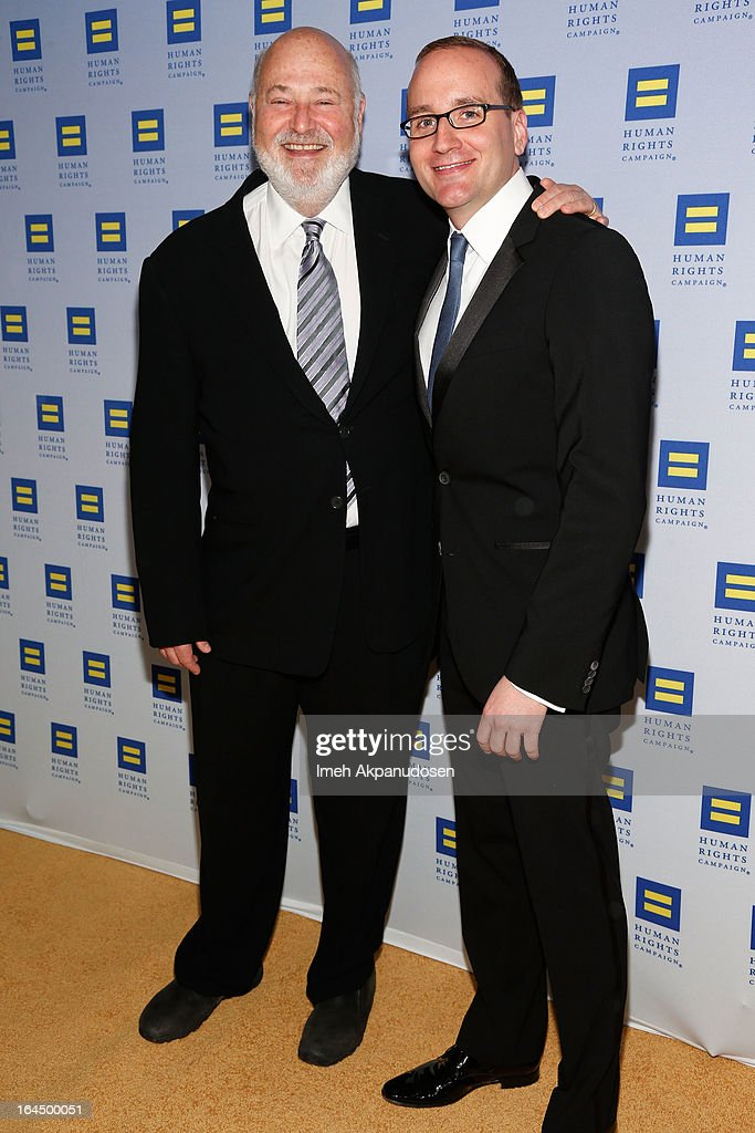 Actor Rob Reiner (L) and Human Rights Campaign President Chad Griffin attend the 2013 Human Rights Campaign Los Angeles Gala at JW Marriott Los Angeles at L.A. LIVE on March 23, 2013 in Los Angeles, California.