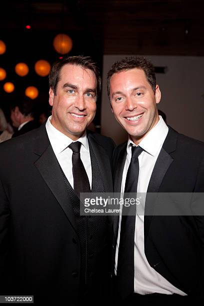 Actor Rob Riggle and agent Michael Kives attend at Comedy Central's 62nd Annual Emmy After Party at The Colony on August 29 2010 in Los Angeles...