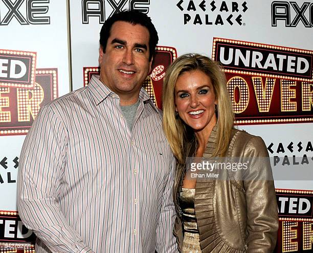 Actor Rob Riggle and his wife Tiffany Riggle arrive at the DVD launch party for the film The Hangover at the Pure Nightclub at Caesars Palace...
