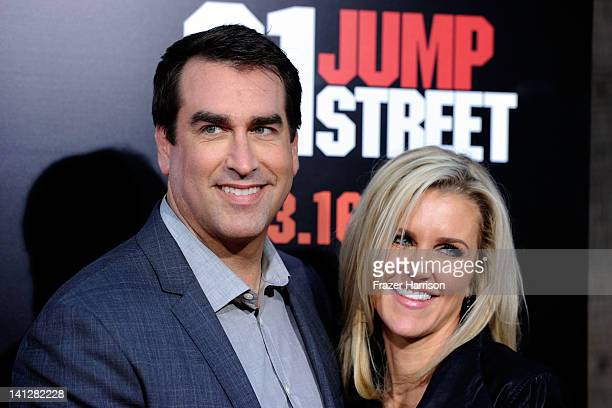 Actor Rob Riggle and Tiffany Riggle arrives at the Premiere Of Columbia Pictures' 21 Jump Street at Grauman's Chinese Theatre on March 13 2012 in...