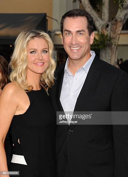 Actor Rob Riggle and wife Tiffany Riggle arrive at the Los Angeles premiere of '22 Jump Street' at Regency Village Theatre on June 10 2014 in...