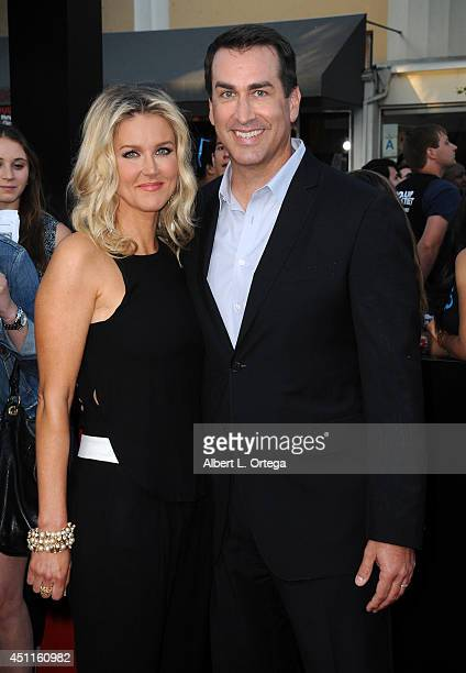 Actor Rob Riggle and wife Tiffany Riggle arrive for the Premiere Of Columbia Pictures' 22 Jump Street held at Regency Village Theatre on June 10 2014...