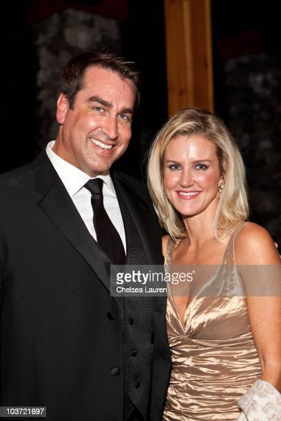 Actor Rob Riggle and wife Tiffany Riggle attend Comedy Central's 62nd Annual Emmy After Party at The Colony on August 29 2010 in Los Angeles...