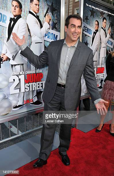 Actor Rob Riggle arrives at the Los Angeles premiere of '21 Jump Street' at Grauman's Chinese Theatre on March 13 2012 in Hollywood California