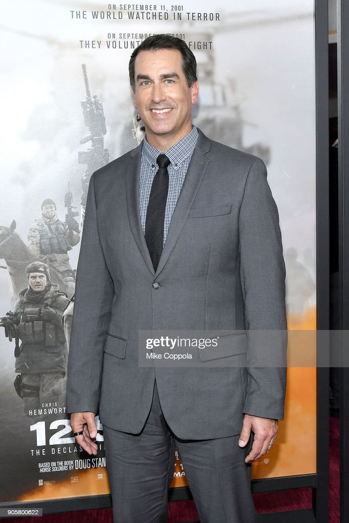 Actor Rob Riggle attends the '12 Strong' World Premiere at Jazz at Lincoln Center on January 16, 2018 in New York City.