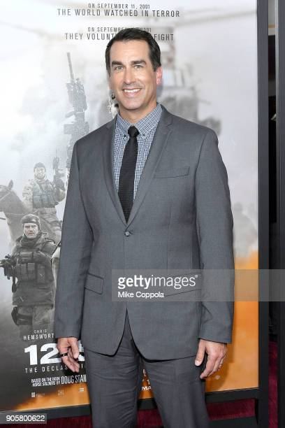 "Actor Rob Riggle attends the ""12 Strong"" World Premiere at Jazz at Lincoln Center on January 16, 2018 in New York City."