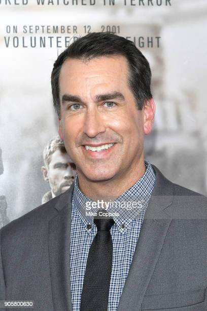 Actor Rob Riggle attends the '12 Strong' World Premiere at Jazz at Lincoln Center on January 16 2018 in New York City
