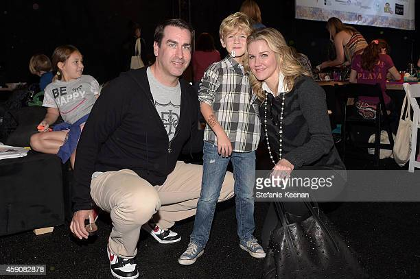 Actor Rob Riggle George Riggle and Tiffany Riggle attend PS ARTS presents Express Yourself 2014 with sponsors OneWest Bank and Jaguar Land Rover at...