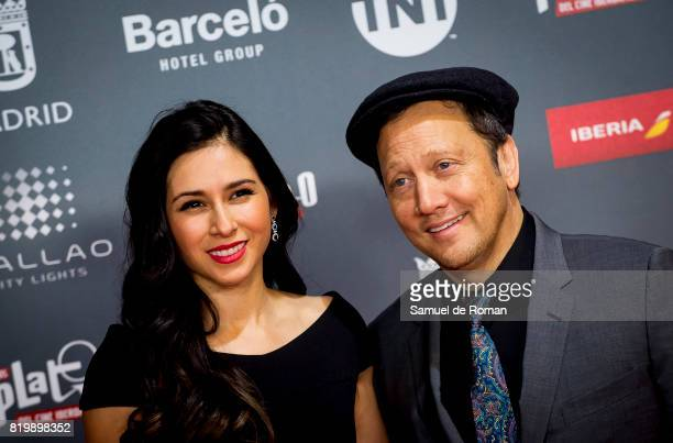Actor Rob Schneider and wife Patricia Maya Schneider attend the attend the Platino Awards 2017 Welcome Party on July 20 2017 in Madrid Spain