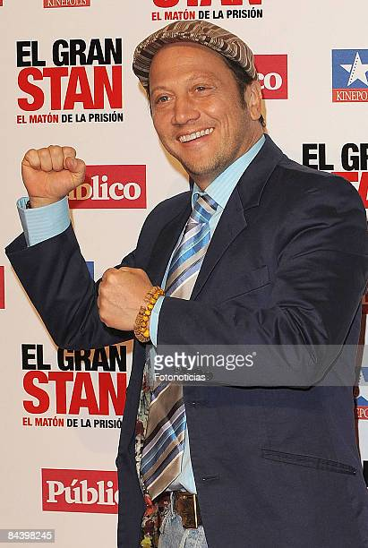 Actor Rob Schneider attends 'Big Stan' premiere at Kinepolis Cinema on January 21 2009 in Madrid Spain