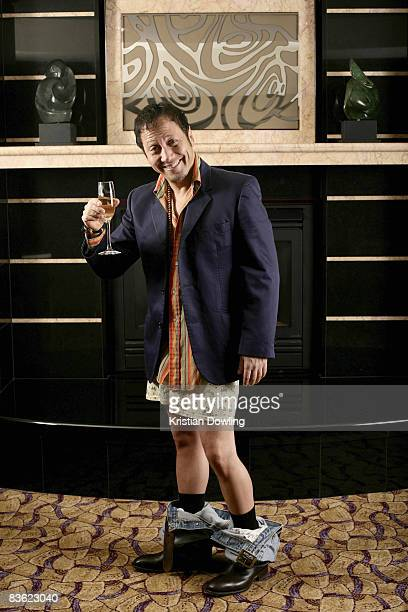 Actor Rob Schneider poses for a portrait session during his visit to Australia at the Park Hyatt Hotel on November 10 2008 in Melbourne Australia The...