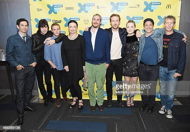 Actor Rob Zabrecky composer Johnny Jewel actors Iain De Caestecker and Barbara Steele producer Adam Siegel director/writer Ryan Gosling actress...