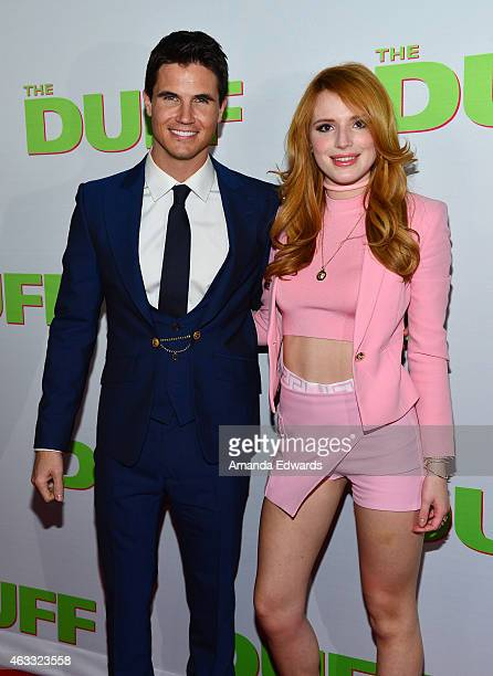 Actor Robbie Amell and actress Bella Thorne arrive at 'The Duff' Los Angeles special screening at the TCL Chinese 6 Theatres on February 12 2015 in...