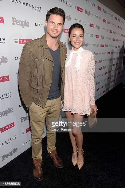 Actor Robbie Amell and Italia Ricci attend PEOPLE's Ones To Watch Event on September 16 2015 in West Hollywood California