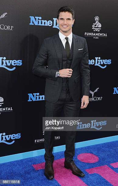 Actor Robbie Amell arrives at the Los Angeles Premiere 'Nine Lives' at TCL Chinese Theatre on August 1 2016 in Hollywood California