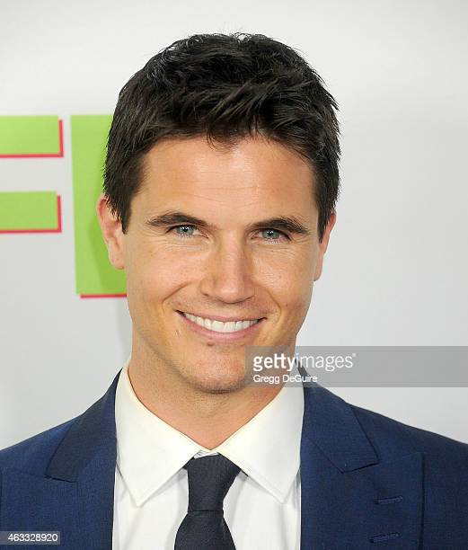 Actor Robbie Amell arrives at the Los Angeles screening of 'The Duff' at TCL Chinese 6 Theatres on February 12 2015 in Hollywood California