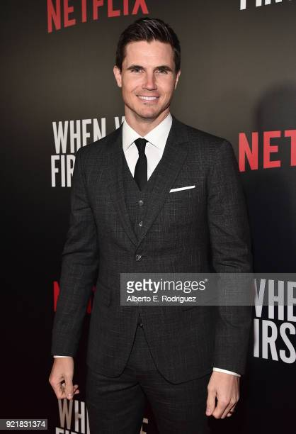 Actor Robbie Amell attends a special screening of Netflix's 'When We First Met' at ArcLight Hollywood on February 20 2018 in Hollywood California