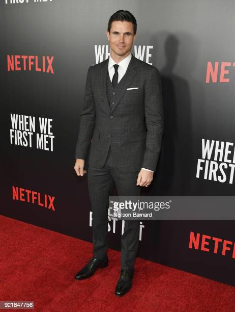 Actor Robbie Amell attends Special Screening Of Netflix Original Film' 'When We First Met' at ArcLight Theaters at ArcLight Hollywood on February 20...