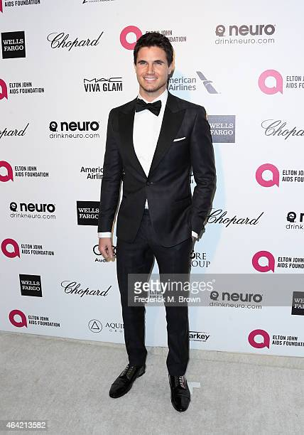 Actor Robbie Amell attends the 23rd Annual Elton John AIDS Foundation's Oscar Viewing Party on February 22 2015 in West Hollywood California