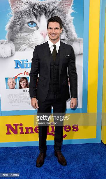 Actor Robbie Amell attends the EuropaCorp's 'Nine Lives' premiere at TCL Chinese Theatre on August 1 2016 in Hollywood California