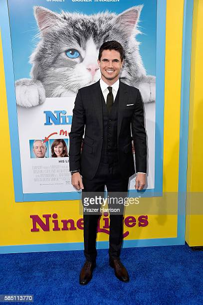Actor Robbie Amell attends the Premiere Of EuropaCorp's 'Nine Lives' at TCL Chinese Theatre on August 1 2016 in Hollywood California