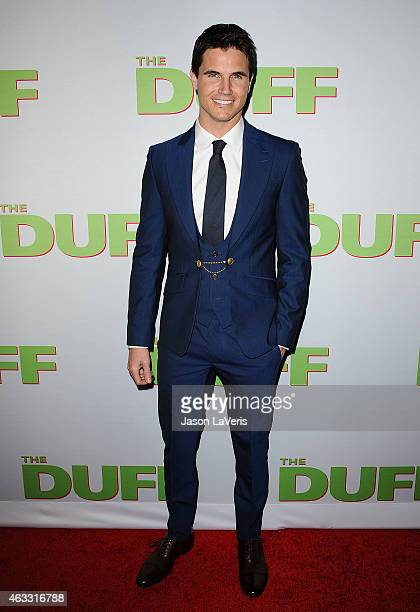 Actor Robbie Amell attends the premiere of 'The Duff' at TCL Chinese 6 Theatres on February 12 2015 in Hollywood California