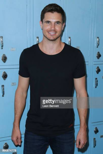 Actor Robbie Amell attends the Screening Of A24's 'Eighth Grade' Arrivals at Le Conte Middle School on July 11 2018 in Los Angeles California