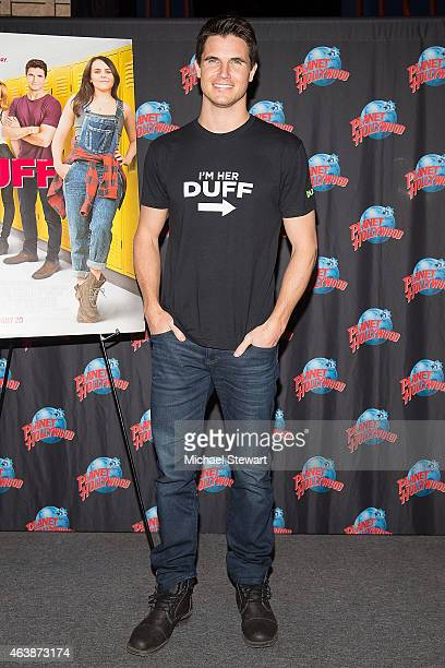 Actor Robbie Amell visits Planet Hollywood Times Square on February 19 2015 in New York City