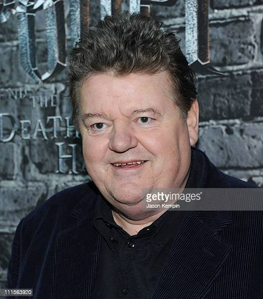 Actor Robbie Coltrane attends the grand opening of Harry Potter The Exhibition at Discovery Times Square Exposition Center on April 4 2011 in New...