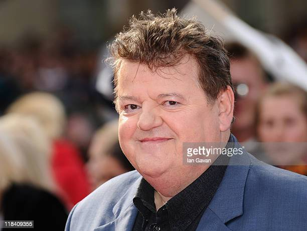 Actor Robbie Coltrane attends the World Premiere of Harry Potter and The Deathly Hallows Part 2 at Trafalgar Square on July 7 2011 in London England