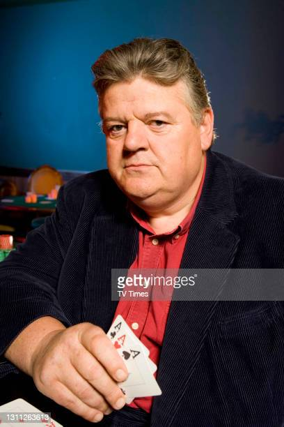 Actor Robbie Coltrane photographed on a casino set, on June 20, 2006.
