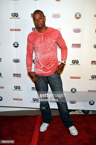 Actor Robbie Jones arrives at the benefit grand opening of celebrity vehicle customization shop Galpin Auto Sports on October 18 2008 in Van Nuys...