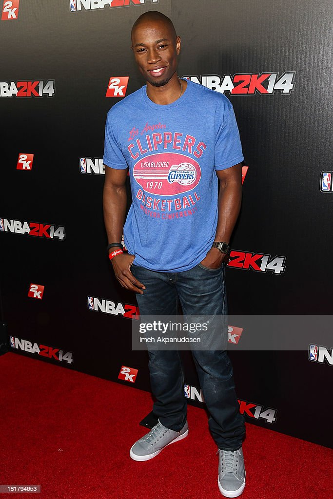Actor Robbie Jones attends the premiere party for the NBA2K14 video game at Greystone Mansion on September 24, 2013 in Beverly Hills, California.