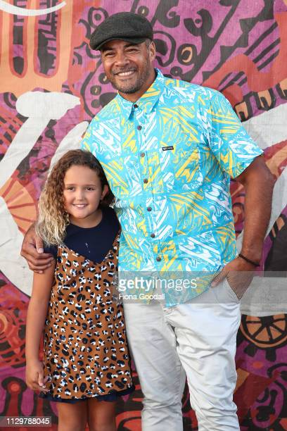 Actor Robbie Magasiva and niece Cleo Gordon attend the opening night of Cirque du Soleil KOOZA on February 15 2019 in Auckland New Zealand