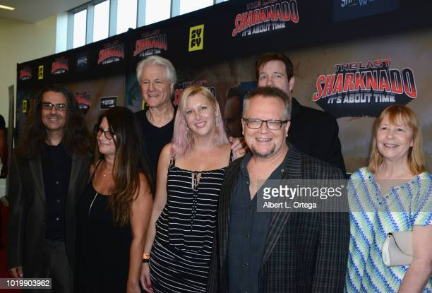 Actor Robbie Rist and band arrive for the Premiere Of The Asylum And Syfy's 'The Last Sharknado It's About Time' held at Cinemark Playa Vista on...