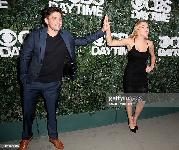 Actor Robert Adamson and actress Hunter King attend the CBS Daytime for 30 Years at The Paley Center for Media on October 10 2016 in Beverly Hills...