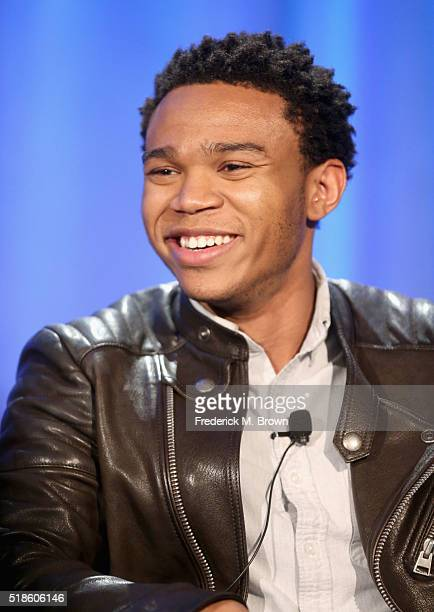Actor Robert Bailey, Jr. Speaks onstage during the 'The Night Shift' panel at the 2016 NBCUniversal Summer Press Day at Four Seasons Hotel Westlake...