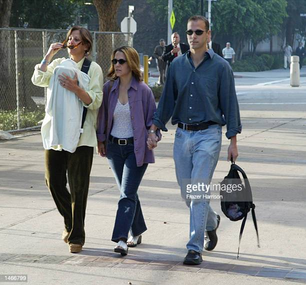 Actor Robert Blake's daughter Delinah arrives at the Van Nuys Courthouse for a hearing in the case of actor Robert Blake on October 9 2002 in Van...