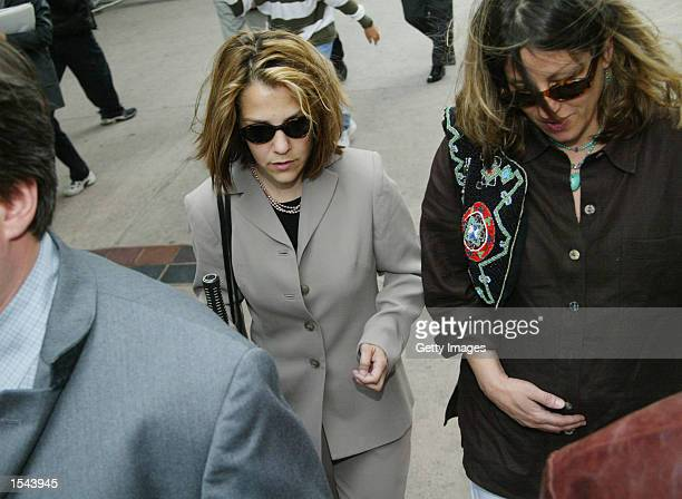 Actor Robert Blake's daughter Delinah Blake arrives to the Van Nuys Superior courthouse for a hearing May 20 2002 in Van Nuys CA A Judge denied the...