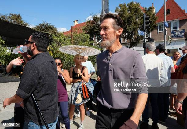 Actor Robert Broski suprises fans in line at Showtime's 'Twin Peaks' Double R Diner PopUp on Melrose Avenue on October 20 2017 in Los Angeles...