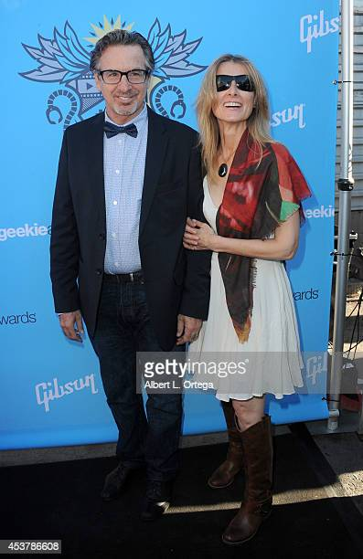 Actor Robert Carradine and Edie Mani arrive for The Geekie Awards 2014 held at Avalon on August 17 2014 in Hollywood California