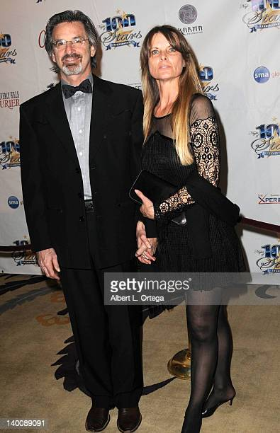 Actor Robert Carradine and wife Edie Mani arrive for Norby Walters' 22nd Annual Night Of 100 Stars Oscar Viewing Gala held at The Beverly Hills Hotel...