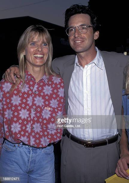 Actor Robert Carradine and wife Edie Mani attending the grand opening party for Grand Havana Room on July 13 1995 at Canon Restaurant in Beverly...