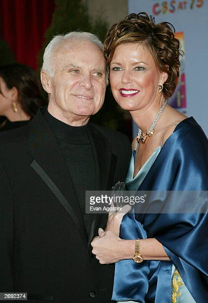 Actor Robert Conrad and wife LaVelda attend CBS at 75 television gala at the Hammerstein Ballroom November 02 2003 in New York City