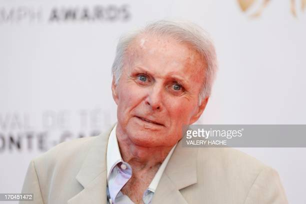 US actor Robert Conrad poses during the closing ceremony of the 53rd MonteCarlo Television Festival on June 13 2013 in Monaco AFP PHOTO / VALERY HACHE