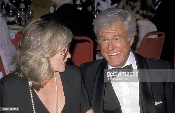 Actor Robert Culp and Candace Faulkner at the Second Annual American Comedy Awards on May 17, 1988 at Hollywood Palladium in Hollywood, California.