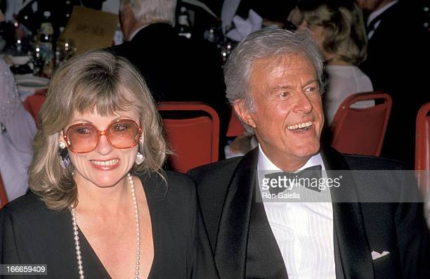 Actor Robert Culp and Candace Faulkner at the Second Annual American Comedy Awards on May 17 1988 at Hollywood Palladium in Hollywood California