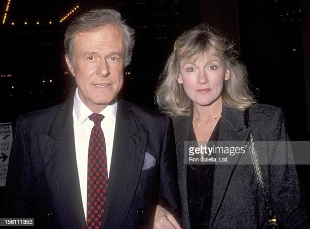 Actor Robert Culp and Candace Faulkner attend a 'Benefit Performance by Jerome Robbins' at Subert Theatre in Century City, California.