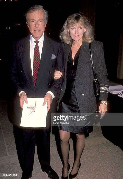 Actor Robert Culp and Candace Faulkner attend a Benefit Performance by Jerome Robbins at Subert Theatre in Century City California